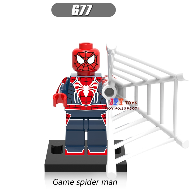 50pcs super heroes model Spider Man Homecoming SpiderMan building block for girl hobby children toy brinquedos