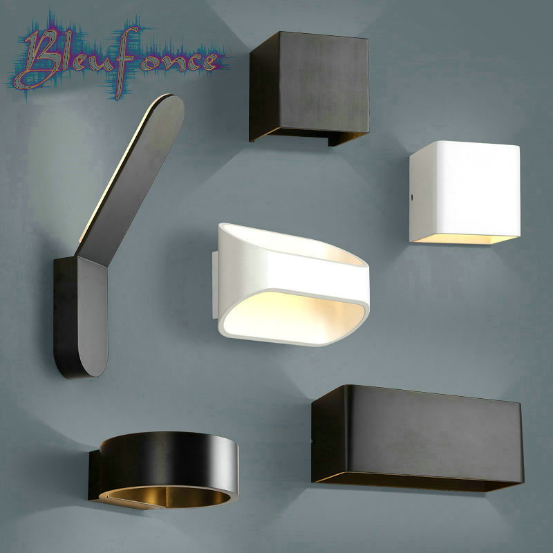 Led wall bedsides reading lights up applique murale led modern luminaire hotel hall surface ...