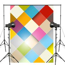 5x7ft Colorful squares Photography Backdrops Kids Photo Studio Backdrop Children Photography Background Wall vinyl photography backdrop vintage photo studio photographic background flower wall floral newborns kids background 5x7ft f1913