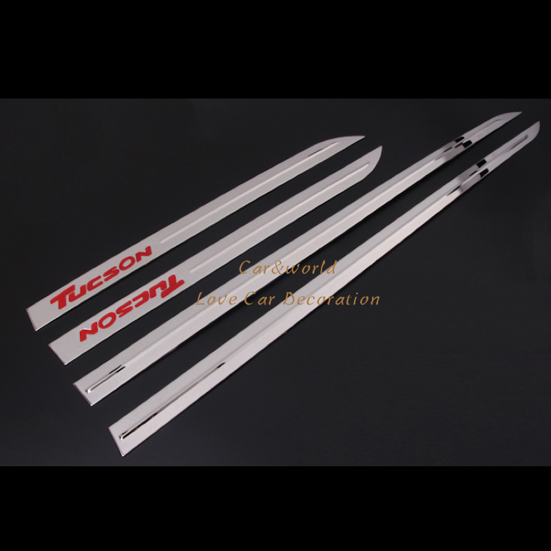 For Hyundai Tucson 2015 2016 2017 Car Side Door Body Cover Protection Molding Trim Stainless Steel 4pcs Car-Styling Accessories