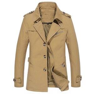 Image 5 - Мужской приталенный Тренч BOLUBAO, однотонный Повседневный Тренч, куртка на осень и зиму