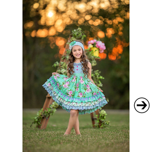 Image 2 - Brand New Summer Girl Dress Sleeveless Girls Casual Maxi Dresses Fashion Chevron Kids Clothes Without Headband LYQ803 080