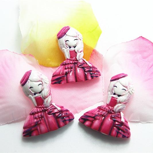 10 шт./лот очень каваи смолы для девочек плоской задней кабошон для DIY Craft Скрапбукинг, 26*30 мм, RC11082c