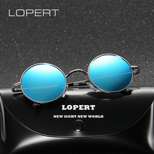 LOPERT Brand Designer Polarized Sunglasses Mens Sun Glasses Women Round Oculos de sol circular fashion For men UV400