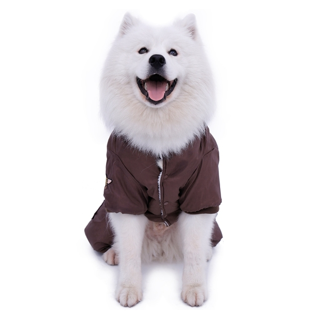 Hot Winter Warm Thick For Large Small Dog Pet Clothes Padded Hoodie Jumpsuit Pants Apparel XS-5XL Hot New Arrival  Free Shipping 2