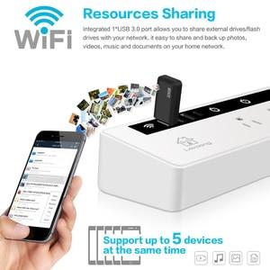 Image 4 - WIFI Smart Power Surge Protector US/ญี่ปุ่น,Alexa Voice Control,REMOTE Storage,บ้านจับเวลา 4 ซ็อกเก็ต 3 USB + Type C