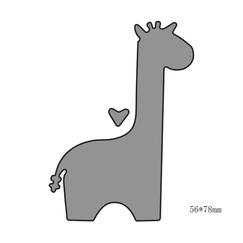 Love giraffe Carbon steel Cutting Dies Stencil Craft for DIY Creative Scrapbook Cut Stamps Dies Embossing Paper Craft 1pc in Cutting Dies from Home Garden
