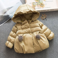Baby Girls clothes winter thick warm cotton padded coat for newborn infant baby girl clothing outfits windproof outerwear jacket