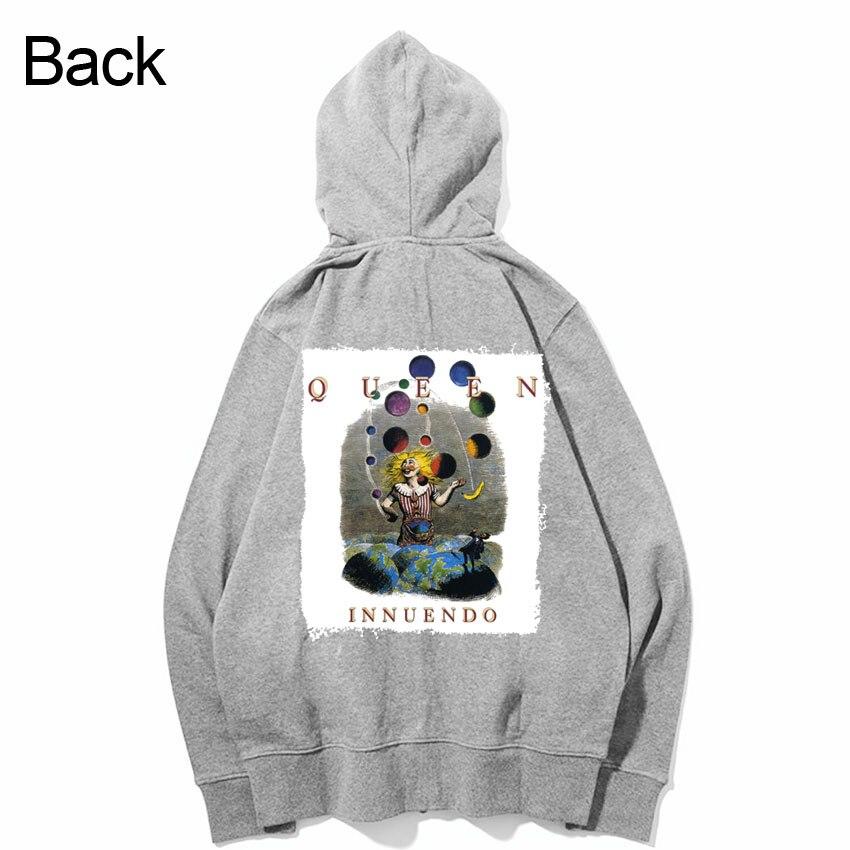 Queen heavy metal rock patchwork design sweatshirts zipper Hoodies outwear