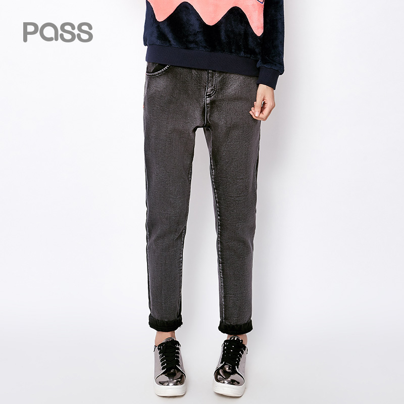 PASS Women Winter Loose Female Denim Casual Jeans