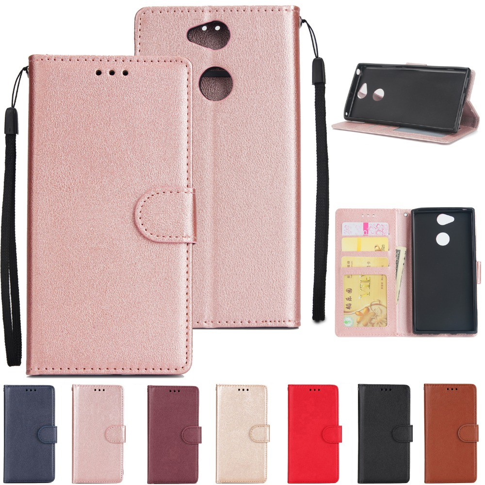 PU Leather Case On For Sony Xperia XA2 Cover For Sony Experia XA1 XA2 Ultra L2 XZ2 Compact Cases Flip Wallet Phone Case Coque