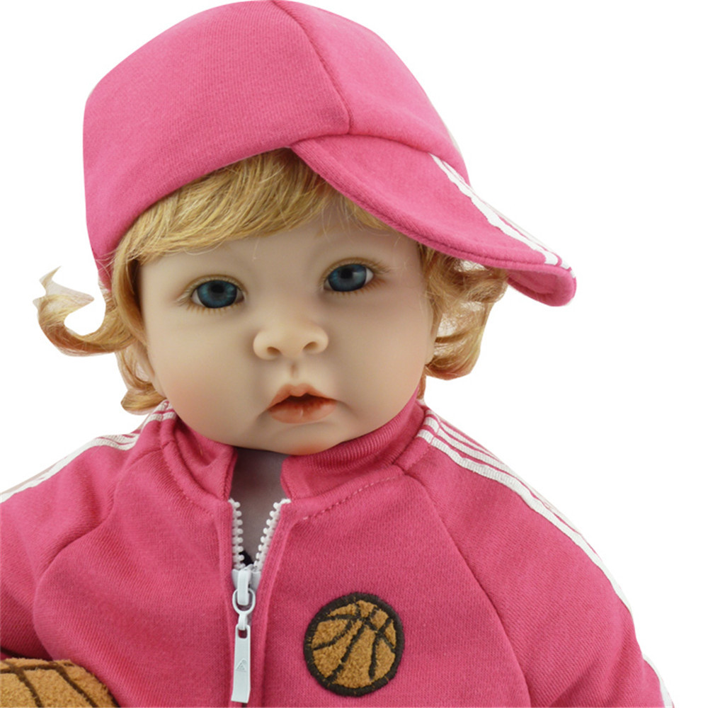 22 inch 55 cm Silicone baby reborn dolls Children's toys Lovely doll birthday gift for Christmas gifts : 91lifestyle
