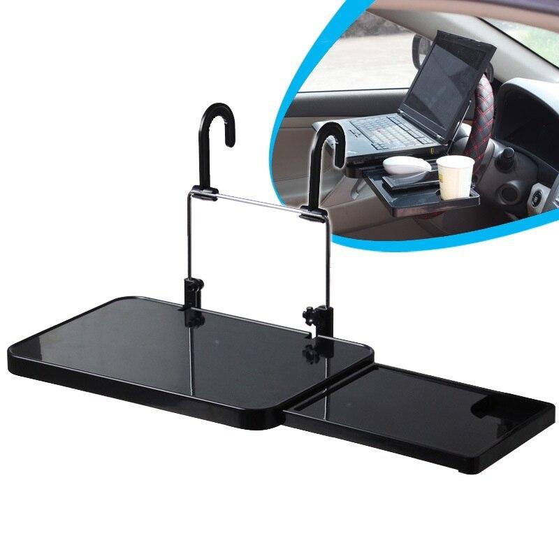 Support d'ordinateur de voiture siège arrière support pour ordinateur portable support de verre de voiture Table à manger ordinateur portable pliable support de boisson alimentaire plateau accessoires de voiture