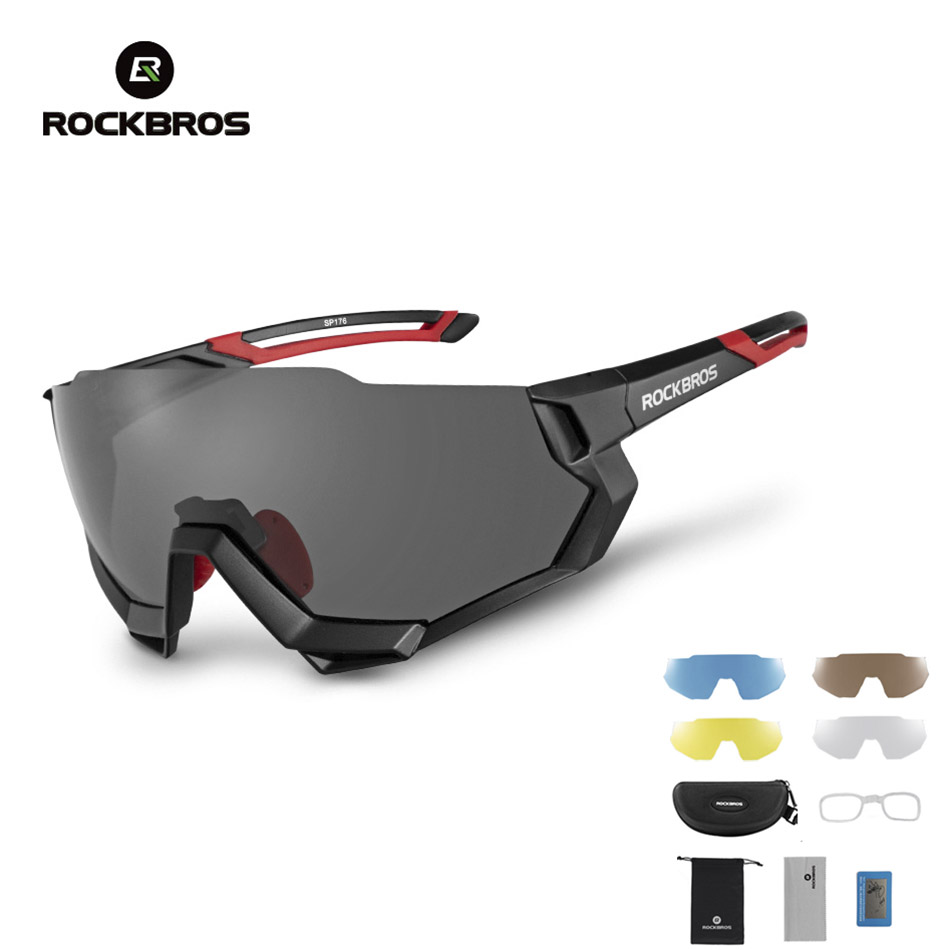Polarized Cycling Glasses Men Women Bike Eyewear Sports Sunglasses 4 Lens UV400