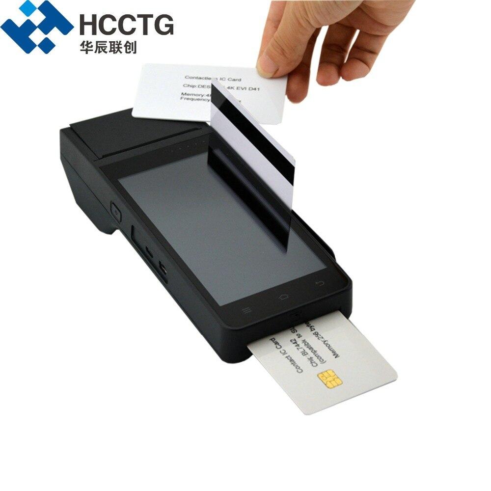 HCCZ90 4G Paiement Dispositif WIFI GPRS Bluetooth NFC puce rfid Magnétique lecteur de cartes Avec Imprimante À Puce EMV tpv android