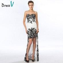Chic Evening Dresses 2016 Sweetheart Lace Appliques Sheath Short Front Long Back Evening Dress 11229055