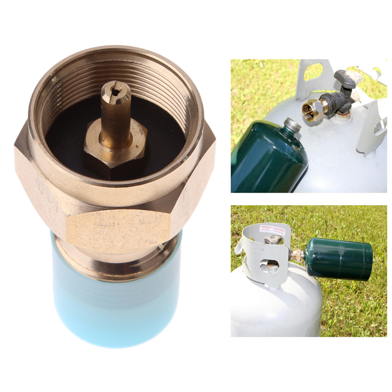 лучшая цена Outdoor Camping Hiking Stove Adaptor Propane Refill Adapter Lp Gas Furnace Connector Cylinder Tank Coupler Heater Camping Hunt