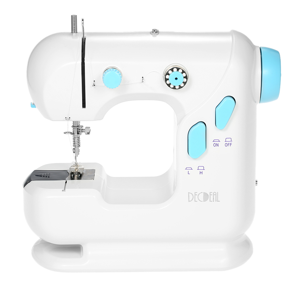 Sewing Machine Multifunctional Electric Household Sewing Machine with Double Thread Double Speed LED Light Foot Pedal