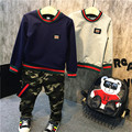 Мальчик новый осень костюм 2016 baby boy повседневная только sweatershirt прилив хлопок для бесплатной доставкой