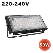 купить 220-240V 50W LED Floodlight Spot Light Ip65 Waterproof LED Spotlight Exterior Wall Lights Garden Lamp Outdoor Flood Light White по цене 1040.8 рублей