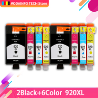 8 pcs Compatible HP 920XL Ink Cartridge for HP OfficeJet 6000 6500 7000 printer for hp920 hp 920 BK C M Y full of ink with chip