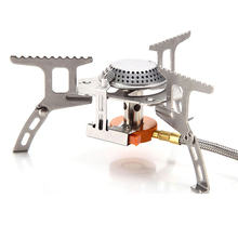 Portable Outdoor Camping Stove Folding Gas Stove Camping Equipment Hiking Picnic Split Burner 3000W Electronic Ignition