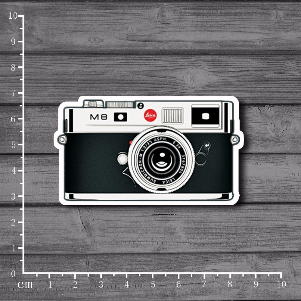 M8 Retro Memories Camera On Notebook  Laptop Stickers For Kids Car Styling Skateboard Suitcase Decal  Waterproof Sticker[Single]