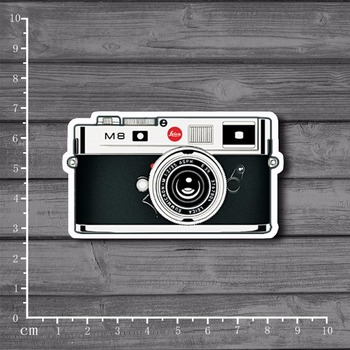 M8 Retro Memories Camera On Notebook Laptop Stickers For Kids Car Styling Skateboard Suitcase Decal waterproof sticker[Single] image