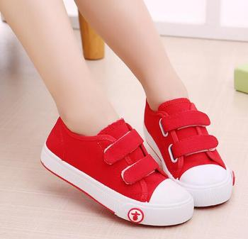 Children's canvas shoes boys spring and autumn new girls wild casual sports shoes