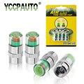 YCCPAUTO 2 0/2 2/2 4 Бар 30/32 PSI монитор давления в шинах манометр колпачок Датчик Индикатор оповещения инструменты мониторинга комплект 4 шт./лот