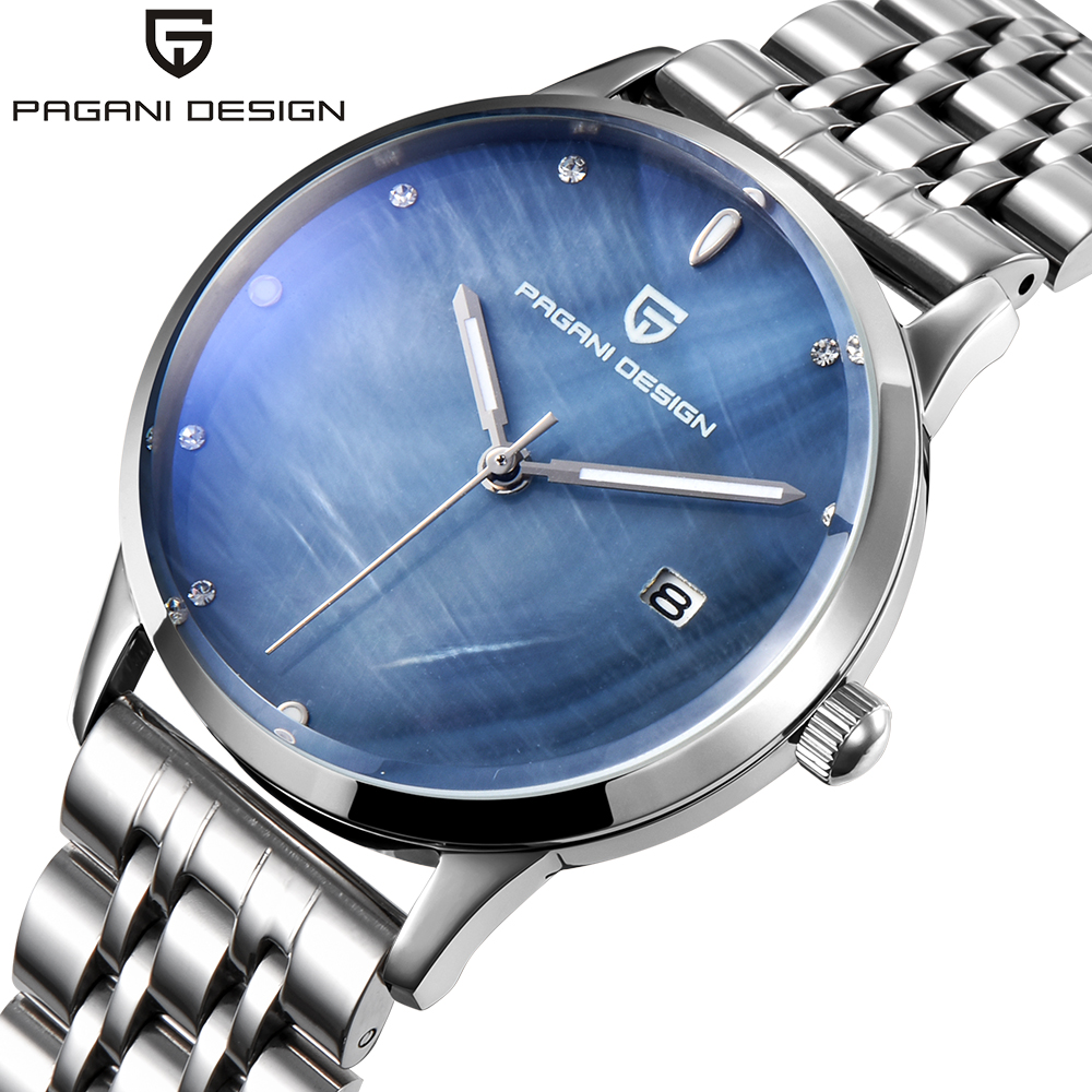 Pagani Design Watch Luxury Brand Date Full Steel Quartz Wrist Watches Women Fashion Casual Dress Ladies Clock Relogio Feminino weiqin hot sale luxury geneva brand crystal watch women ladies fashion dress quartz wrist watch relogios feminino 2017 clock