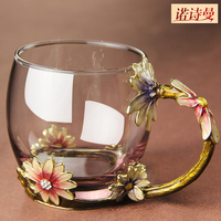 Glass Tea Cup Lovers Mug Birthday Gift Coffee Cup Gift Box Set