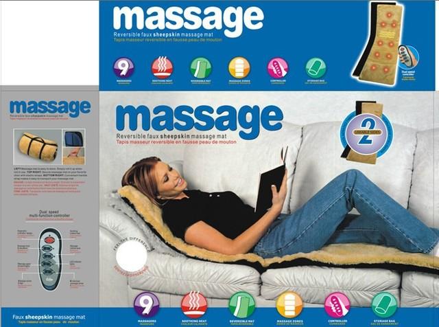 Multi-função de calor de acordo com a vibração almofada de massagem dobrável pescoço lombar spine massager massagem colchão