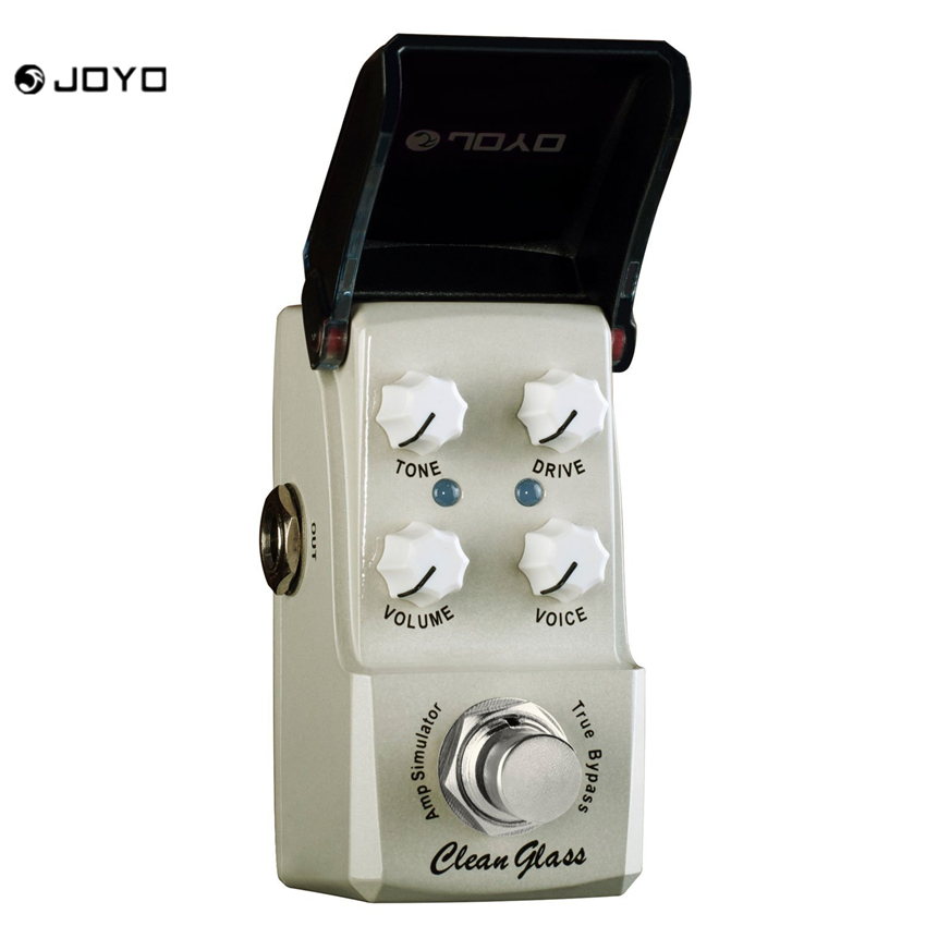 JOYO JF-307 Clean Glass Amp Simulator Mini Guitar Effects Pedal Gray aroma adr 3 dumbler amp simulator guitar effect pedal mini single pedals with true bypass aluminium alloy guitar accessories