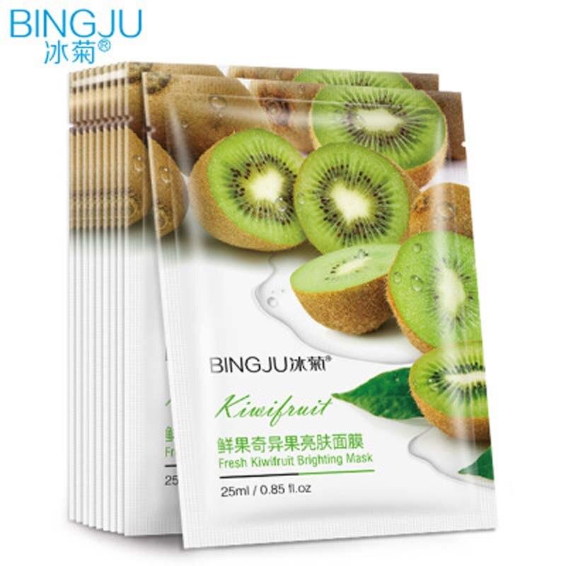 Essence Mask Sheet 1pcs Face Kiwifruit Brightening Moisturizing Oil Control Whitening Facial Cosmetics