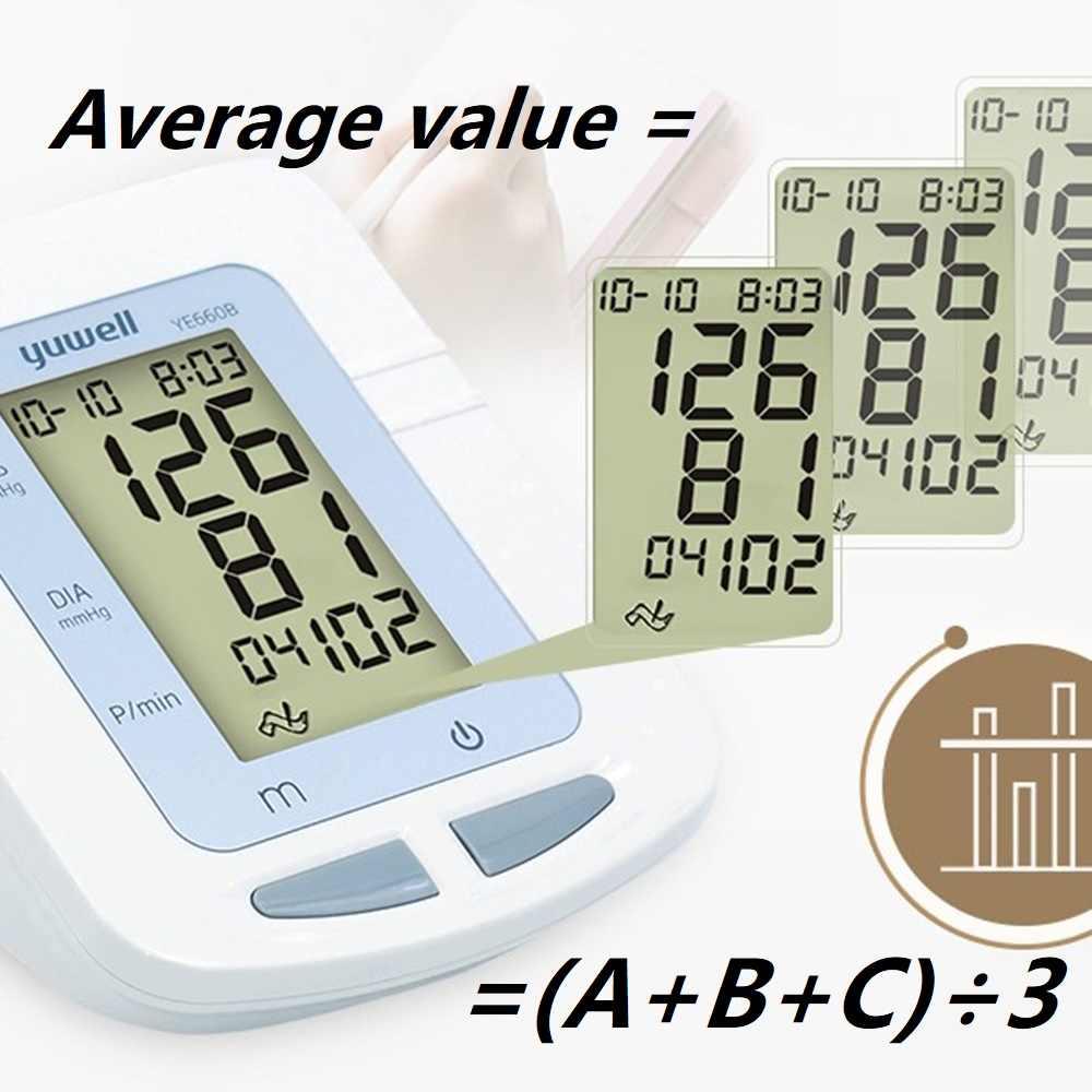 YUWELL Монитор артериального давления на руку 3 года гарантии супер большой ЖК-манжета точное медицинское оборудование Сфигмоманометр портативный мешок