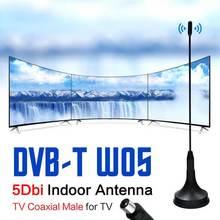 лучшая цена Indoor TV Antenna Digital 5dBi DVB-T Freeview HDTV Antenna Aerial Signal Booster For DVB-T Antena TV HDTV Box 1m Cable ATSC