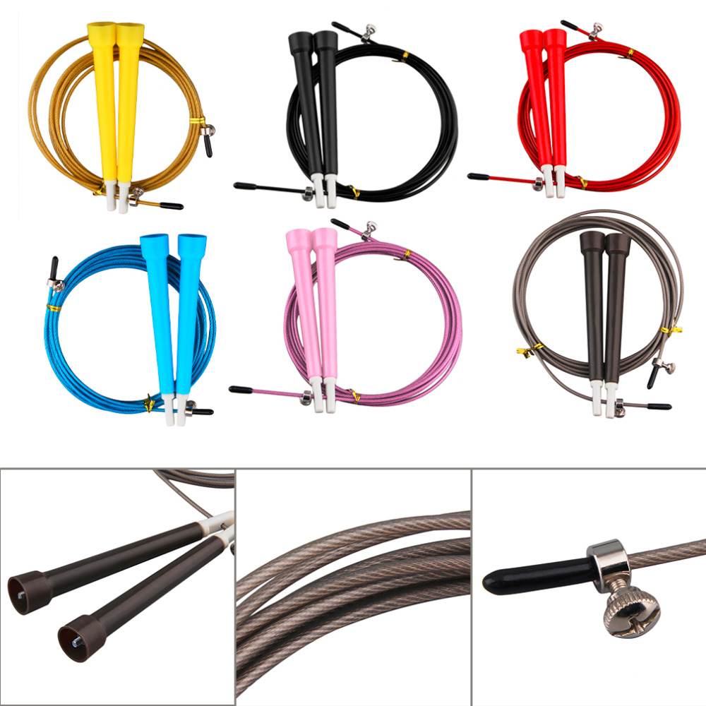 Cable Steel Jump Skipping Jumping Speed Fitness Rope Cross Fit MMA Boxing Drop Shipping