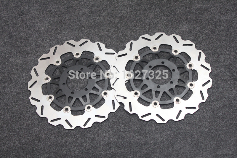 Motorcycle Front Brake Disc Rotors For Yamaha FZR 400 RR 92/FZ 400 96/FZR 400 89 Universel motorcycle front and rear brake pads for yamaha fzr 400 fzr400 rrsp rr 1991 1992 black brake disc pad