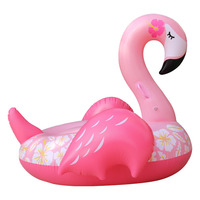 Giant Pink Flamingo Pool Float Inflatable Swimming Mattress For Adults 150CM Ride On Pool Rafts Beach Party Water Bed Games Toy