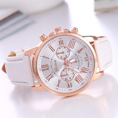2019 Latest Fashion Pinbo Women Luxury Brand Quartz Clock Watch High Quality Leather Strap Ladies Wristwatches Relogio Feminino