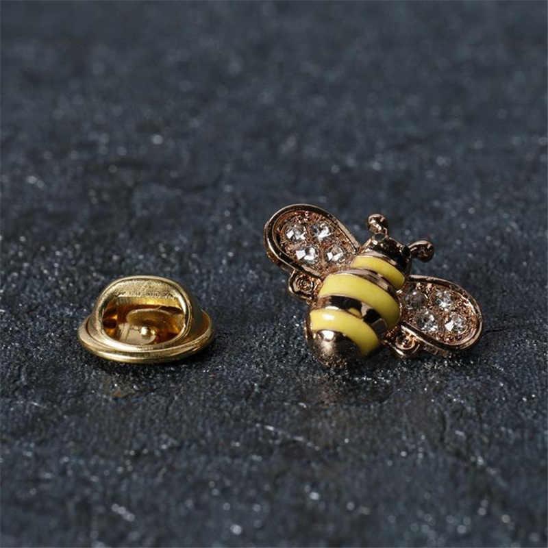 2 ชิ้นสร้างสรรค์ป้ายแมลง Bee รูปร่างผู้ชายผู้หญิงแฟชั่นเข็มกลัดเข็มกลัดสำหรับเสื้อแจ็คเก็ตเสื้อสูทชุดตกแต่ง