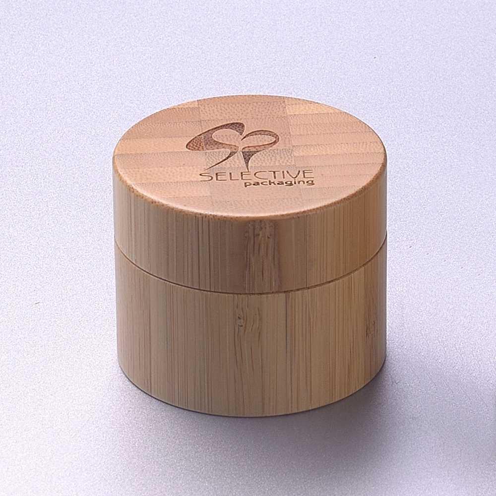 30g bambu kavanoz kozmetik bambu krem kavanoz cam iç kozmetik ambalaj 30g 50g 100g 120g lüks bambu krem kavanoz konteyner