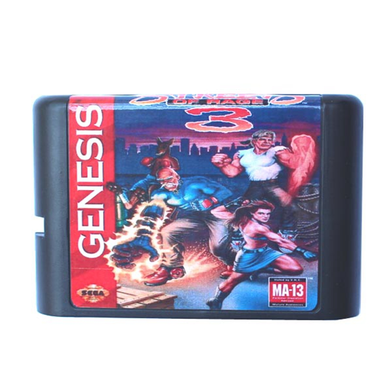 Streets Of Rage 3 16 bit MD Game Card For Sega Mega Drive For Sega Genesis
