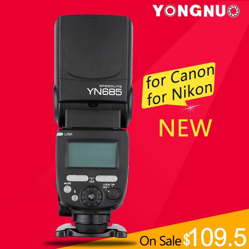 Prix pour Yongnuo yn685 sans fil 2.4g hss ttl/ittl speedlite flash pour canon nikon soutien yn560iv yn560-tx rf605 rf603 ii yn685c yn685n