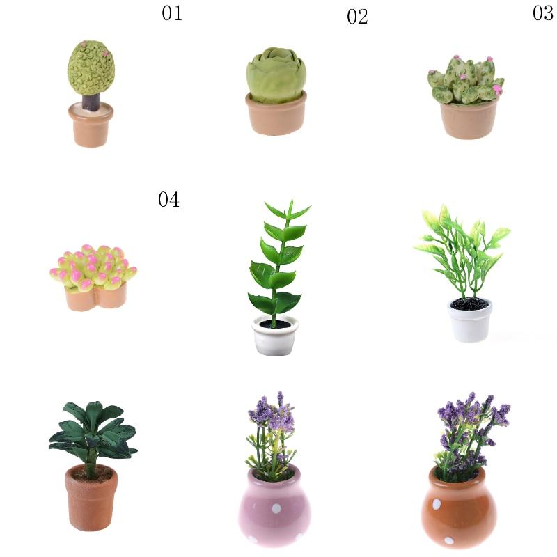 1:12 Miniatura Green Plants Decoration Dollhouse Furniture Decoration Accessories Miniaturas Casa De Munecas