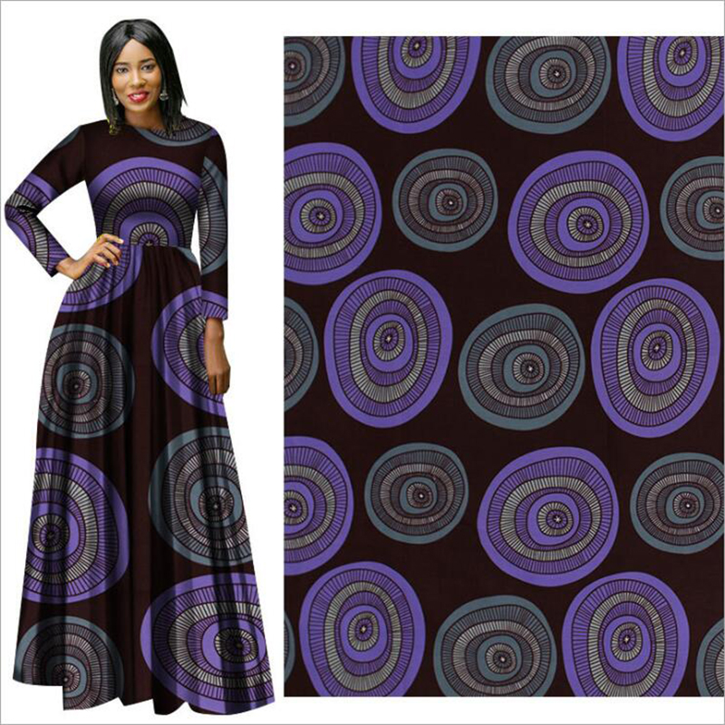 Wax-Fabric Hollandais Print Cloth African Purple Suit Me-Dusa Elegant High-Quility 6yards/Pcs