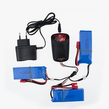 EU plug balance charger 1to3 cabl7.4V 2500mah 2S RC Drone Syma X8C Lipo Battery For Wltoys V262 X8W X8C X8 Quadcopter Helicopter