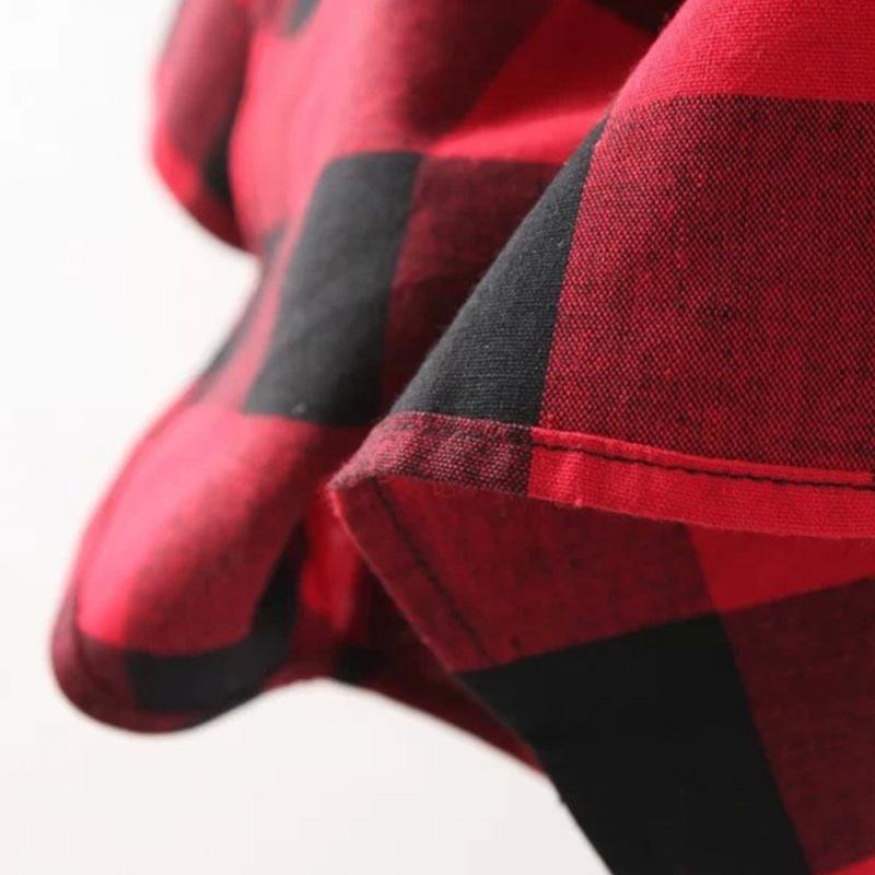 HTB1qsSgJFXXXXamXVXXq6xXFXXXc - Flannel Shirt Women Black And Red Ladie Top Casual Blouse