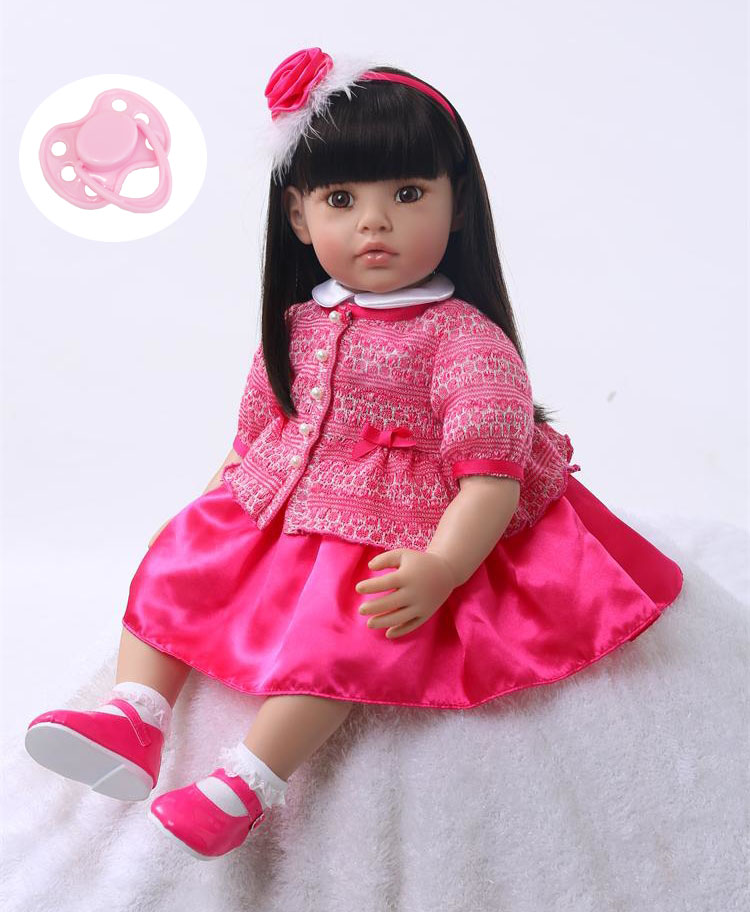 60 cm Silicone Reborn Bébé Poupée Jouets Vinyle Princesse Enfant Poupées Cadeau D'anniversaire Cadeau Filles Brinquedos Poupées Collection Limitée